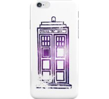 Crumbling TARDIS - galaxy outline iPhone Case/Skin