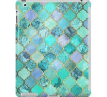 Cool Jade & Icy Mint Decorative Moroccan Tile Pattern iPad Case/Skin