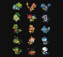 Pixel Pokemon Starters by Flaaffy