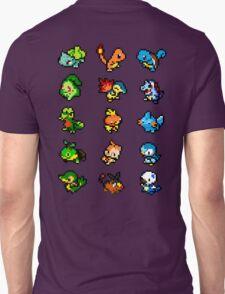 Pixel Pokemon Starters T-Shirt