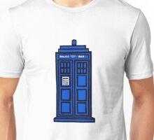 Comic-styled TARDIS Unisex T-Shirt