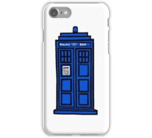 Comic-styled TARDIS iPhone Case/Skin