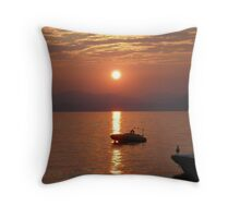 Sunset over Lake Garda Italy picture 2 Throw Pillow
