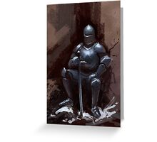 Sir Sitsalot the seated knight Greeting Card