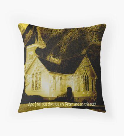 Peter The Rock Matthew 16:18 Throw Pillow