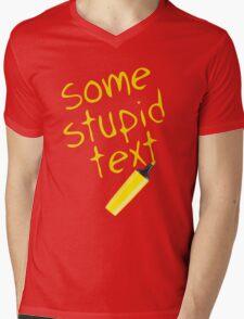 Some stupid text Mens V-Neck T-Shirt