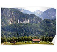 Castle Neuschwanstein - King Ludwig II - Bavaria Poster