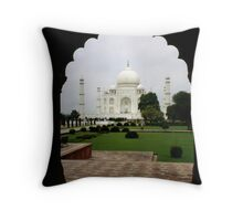Unusual View Of The Taj Mahal Throw Pillow