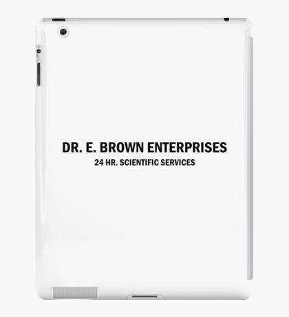 BTTF Doc Lab iPad Case/Skin