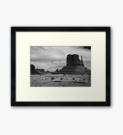 West Mitten Framed Print
