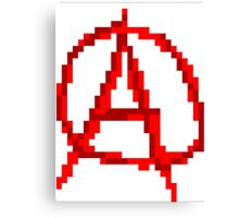 Pixel Anarchy Canvas Print