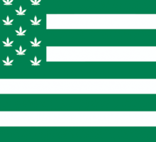 Weed American Flag Sticker