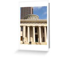 State House, Columbus, Ohio Greeting Card