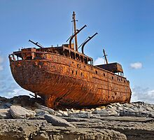 rusty old ship aran islands, county clare, ireland by upthebanner