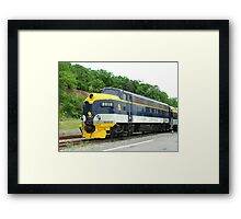 Old Commuter Train Framed Print