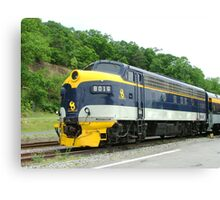 Old Commuter Train Canvas Print
