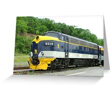 Old Commuter Train Greeting Card