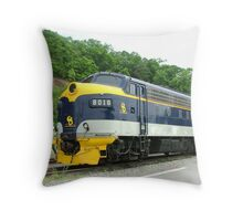 Old Commuter Train Throw Pillow