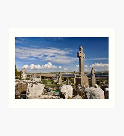 old grave site at liscannor Art Print