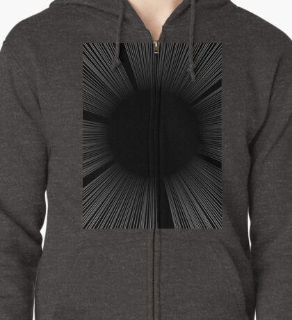 SCREEN TONE- Black flash Zipped Hoodie
