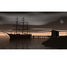 Sitting at the Dock of the Bay Photographic Print