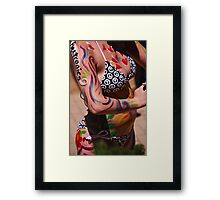 Body Art for the Parade Framed Print