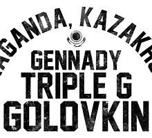 Gennady Golovkin - Letterpress by liam175