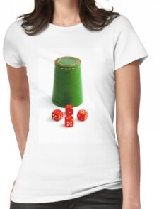Dice Shaker Womens Fitted T-Shirt