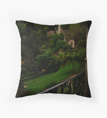 Quinta da Regaleira, view from the palace  Throw Pillow