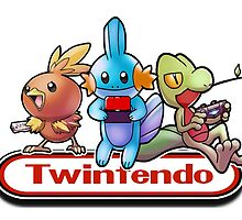 Twintendo Official Logo (White Outline) by twintendo