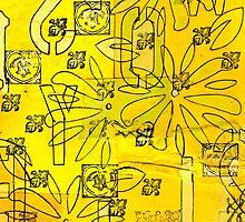 Yellow Abstract by sadeyedartist
