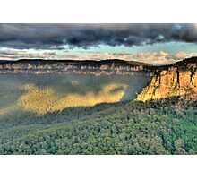 Shadows & Light  # 2 - Blue Mountains World Heritage Area - The HDR Experience Photographic Print