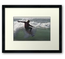 Surfing Currarong  #1 Framed Print