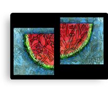 Watermellon Slices Canvas Print