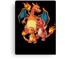 Charmander Evolutions Canvas Print