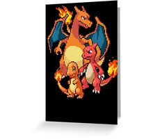 Charmander Evolutions Greeting Card