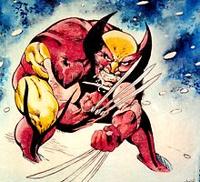 Wolverine Reproduction hand painted painting by Patricia Anne McCarty-Tamayo
