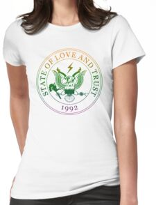 State of Love and Trust Womens Fitted T-Shirt