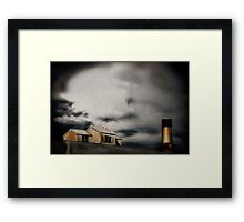 under the wire - forgotten Framed Print