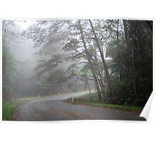 Misty Mountain Morning Poster