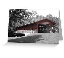 Lake of the Woods Covered Bridge Greeting Card