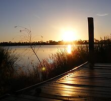 Pier - Lake Curlew, NSW by Gregory McInnes