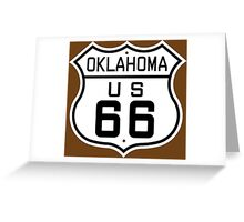 Oklahoma Route 66 Greeting Card