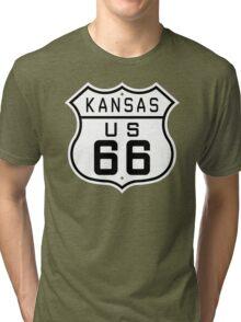 Kansas Route 66 Tri-blend T-Shirt