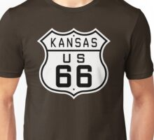 Kansas Route 66 Unisex T-Shirt