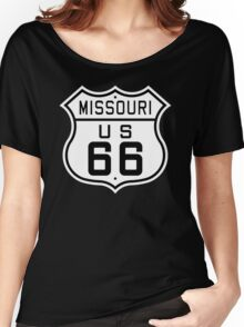 Missouri Route 66 Women's Relaxed Fit T-Shirt