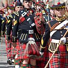 The Royal Scots Dragoon Guards - Pipers by Chris Clark