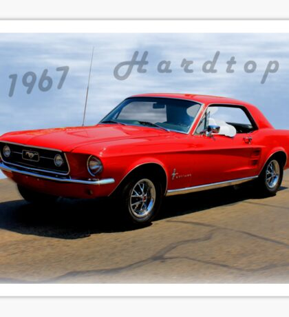 1967 Ford Mustang Hardtop Sticker
