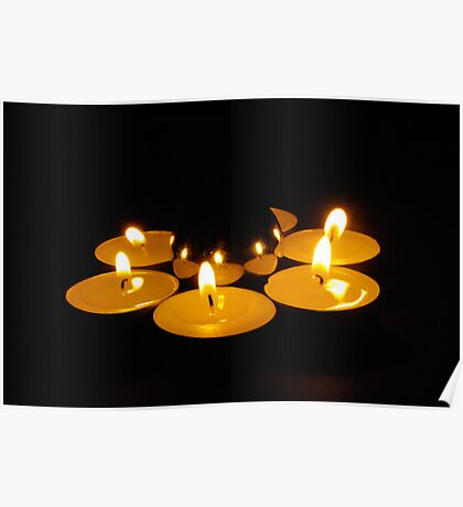candlelit sphere Poster