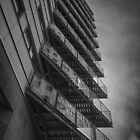 Balconies - Mono by Glen Allen